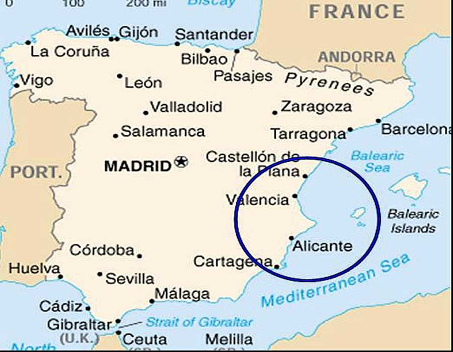 wo liegt alicante in spanien